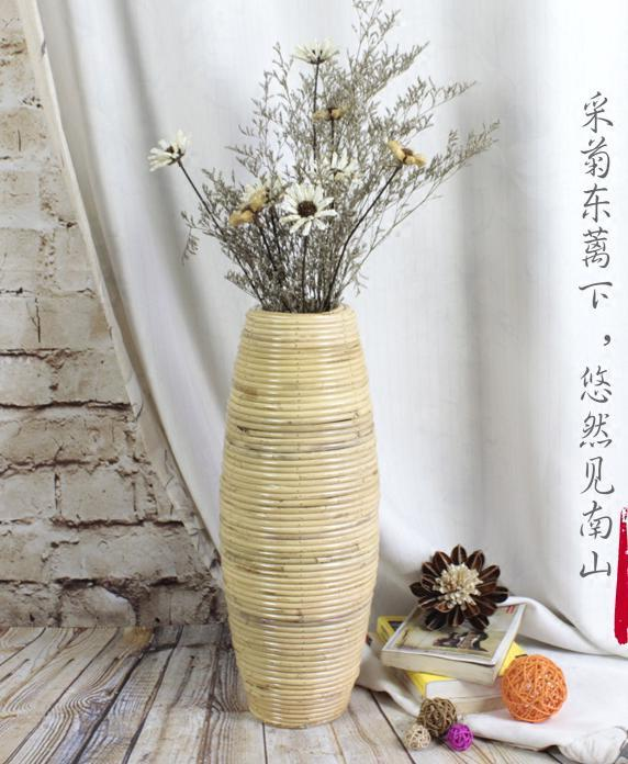 Maddy Large Bamboo Floor Vase
