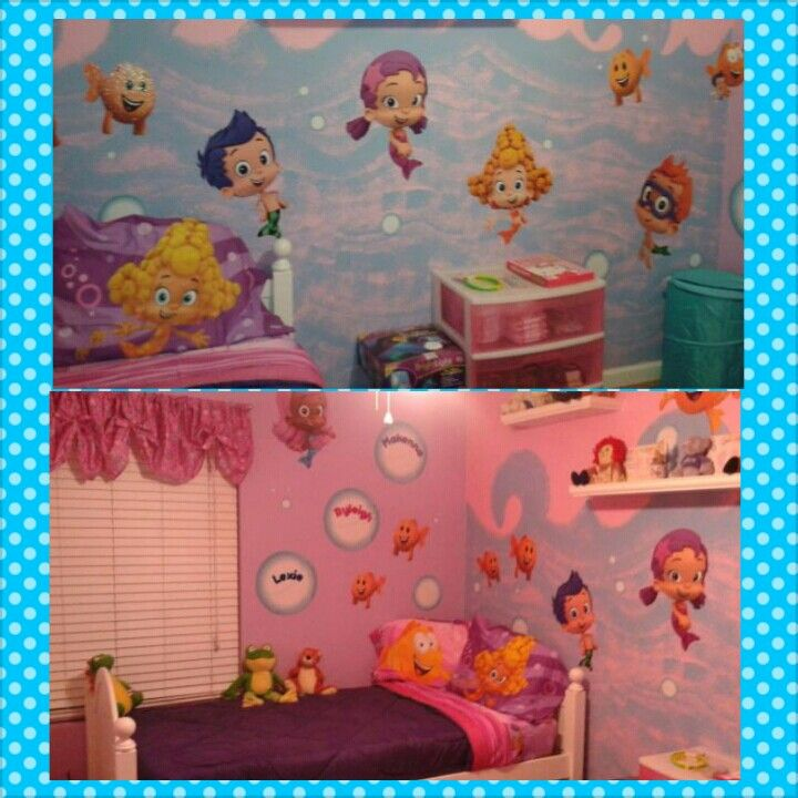 Bubble guppies bedroom from the worlds best Grammy.