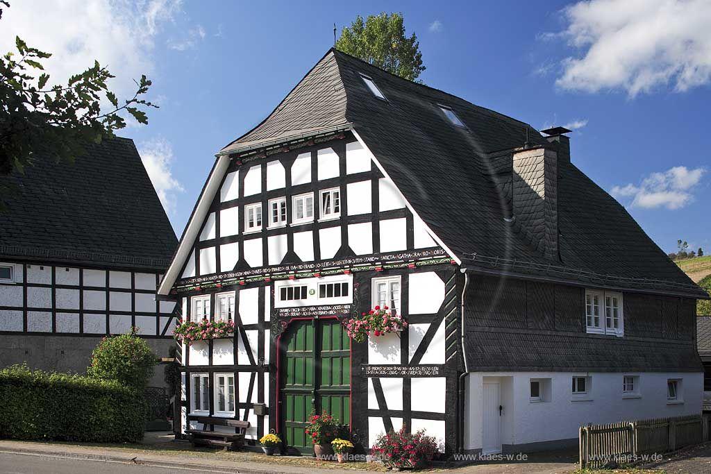 Olsberg, Assinghausen, Hochsauerlandkreis, Fachwerkhaus