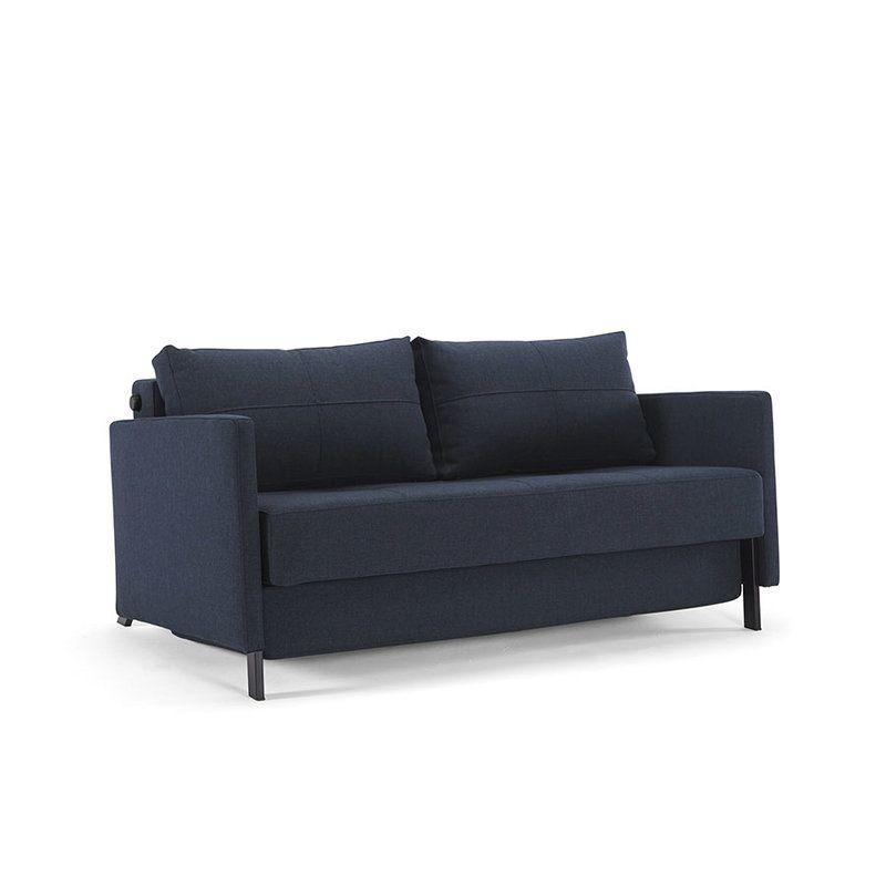 canap lit compact de luxe cubed 140 ou 160 avec accoudoirs innovation living - Canape Lit 140