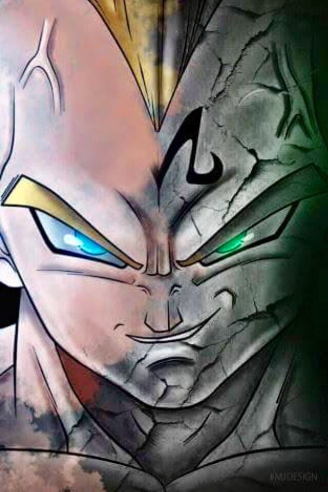 Totally awesome pic of Majin Vegeta XD Dragon Ball Z