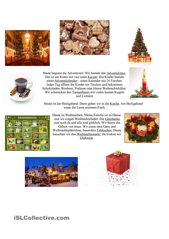 Weihnachten | Weihnachten im DaF/DaZ-Unterricht (o Natal na aAula de ...