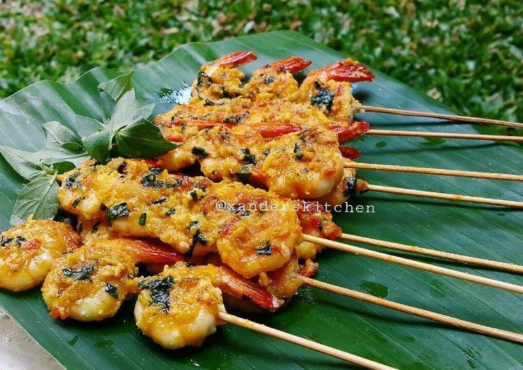 Resep Sate Udang Oleh Xander S Kitchen Resep Resep Makanan Pedas Resep Masakan Indonesia