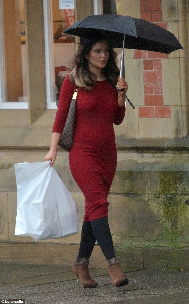Eye-catching: The former Coronation Street star was easy to spot as she browsed local shop...