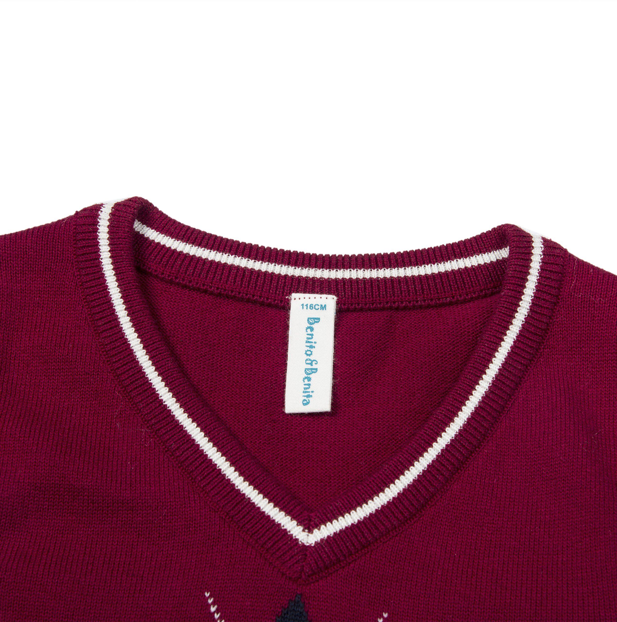 Benito /& Benita Boys Pullover Sweater Uniforms With Argyle Patterns 3-12Y
