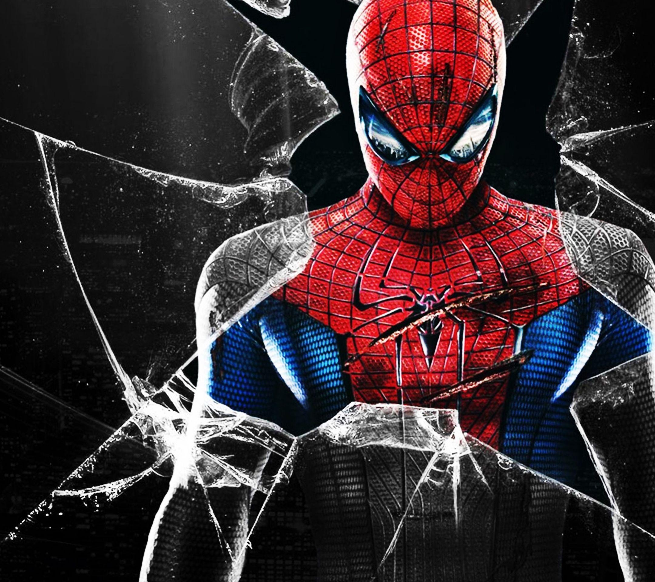 download spiderman 2160 x 1920 wallpapers - spiderman broken glass