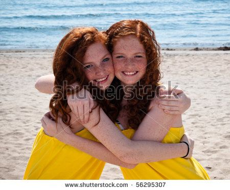 Apologise, Redhead sisters at the beech