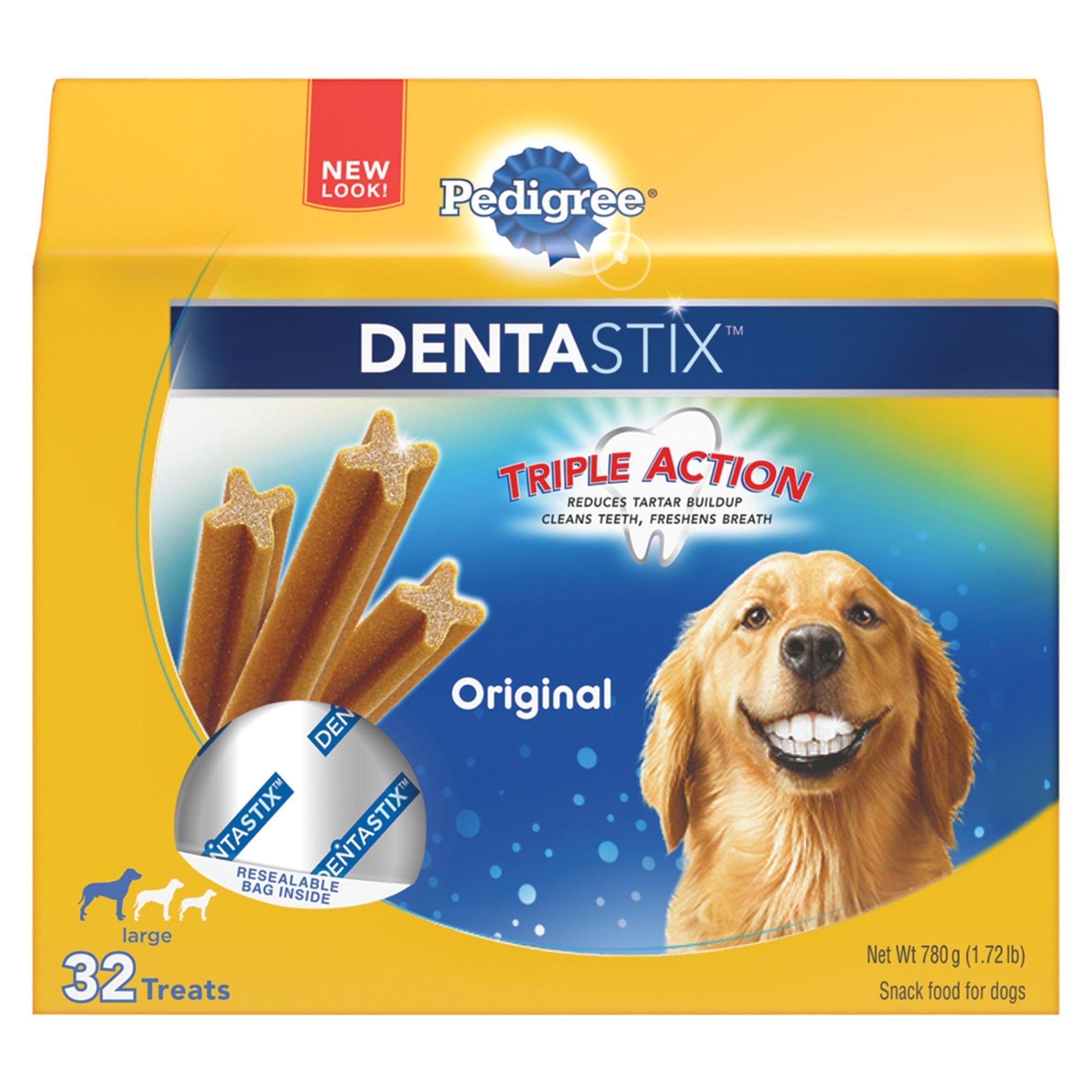 Pedigree Dentastix Large Dog Sticks Size 32 Count Copper Green