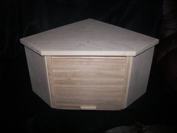Unfinished Birch Corner Breadbox With Roll Up Door Etsy Roll Up Doors Bread Boxes Buy Bamboo