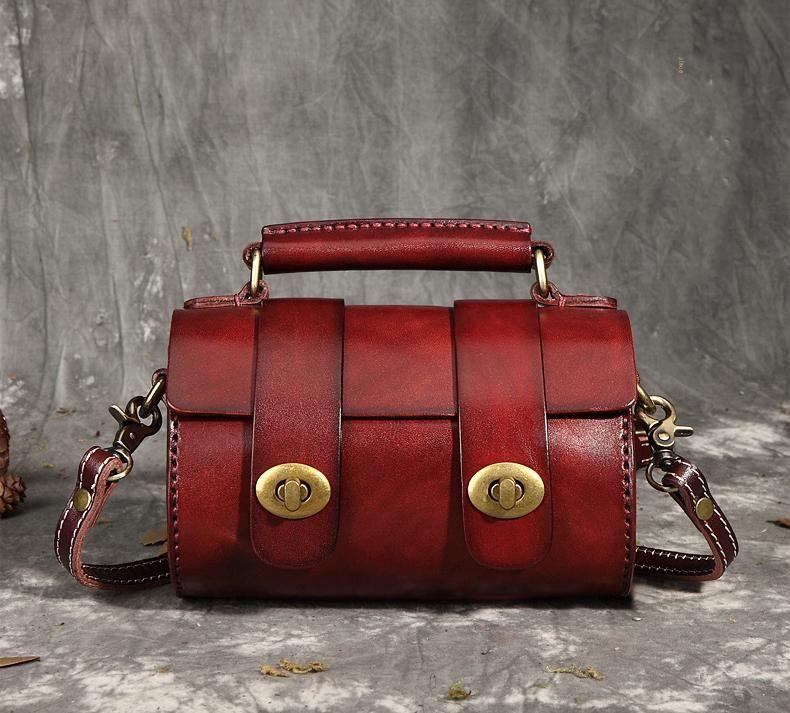 Full Grain Leather Satchel Bag b9c615fe375bb