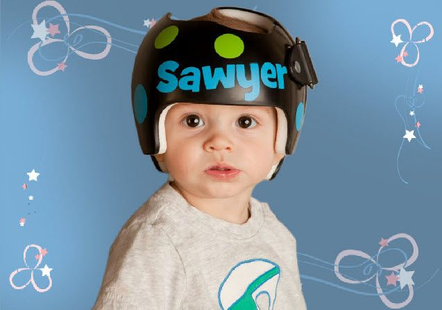 Cranial Helmet Decoration Iron Blog - Baby helmet decalspersonalized cranial band fairy decals just tinkering