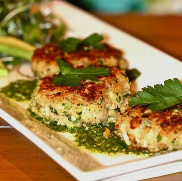 Crab cakes with lemon cilantro salmon recipes