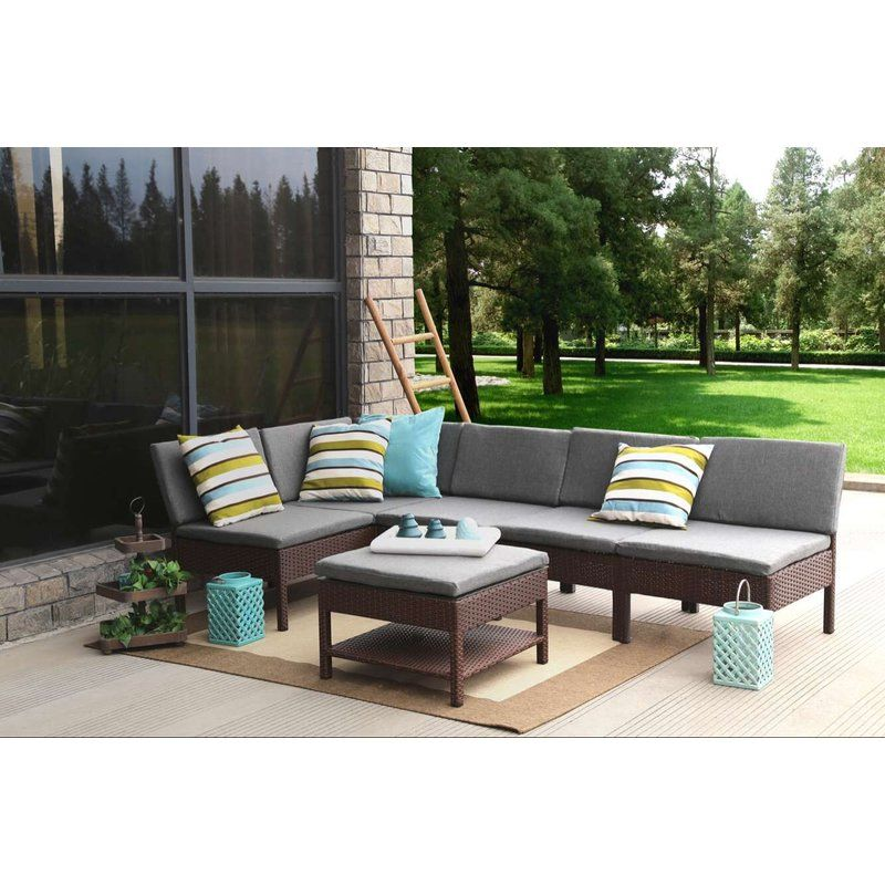 Bridgnorth 6 Piece Sectional Seating Group With Cushions ...
