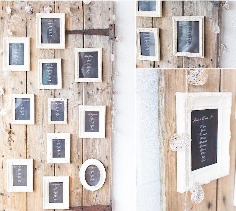 25 id es pour son plan de table mariage original et super chic cadres blancs plan de table. Black Bedroom Furniture Sets. Home Design Ideas