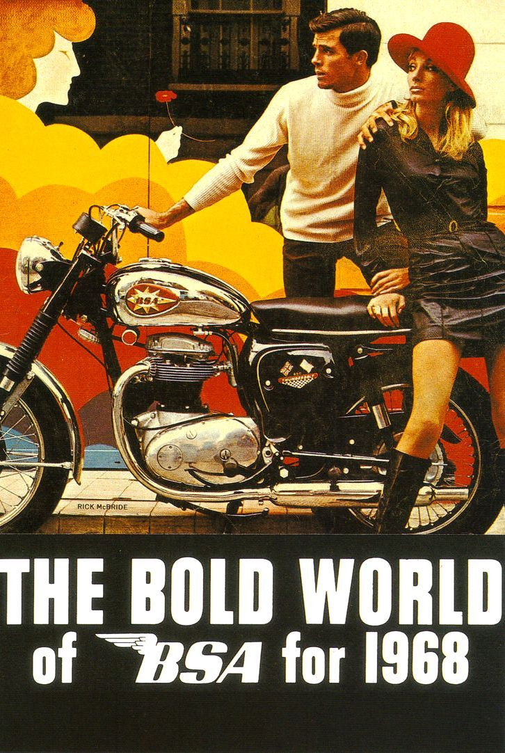 1968 BSA THUNDERBOLT 650 VINTAGE MOTORCYCLE AD POSTER PRINT 36x27 9 MIL PAPER