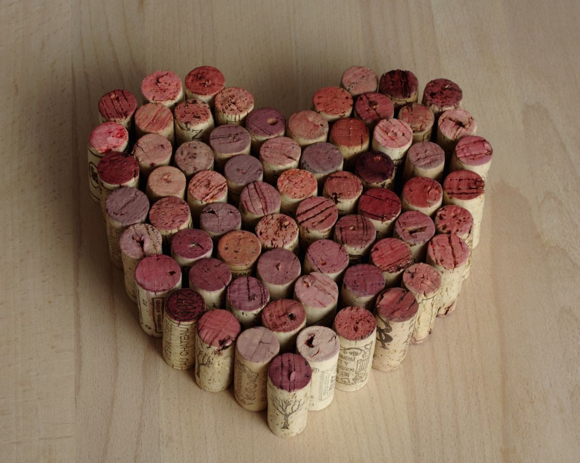 Put A Cork In It With Smart Ways To Reuse Your Old Wine Corks Valentines Day Wine Cork Heart Wine Cork Projects