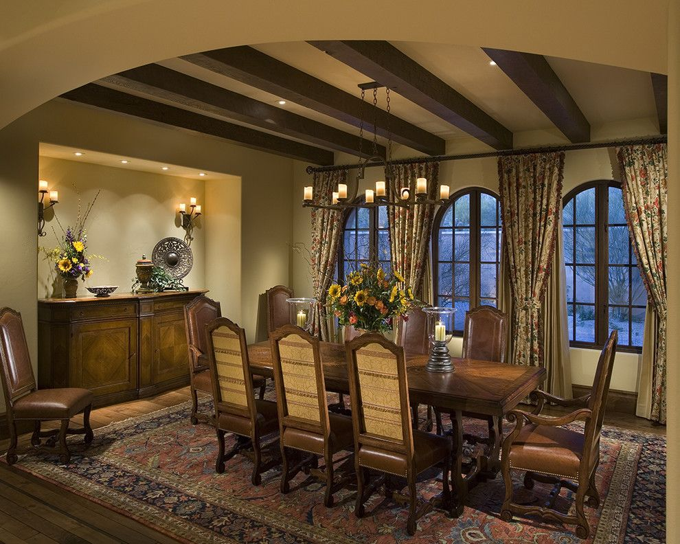 Beautiful wall candle sconces in Dining Room Rustic with Beam ...