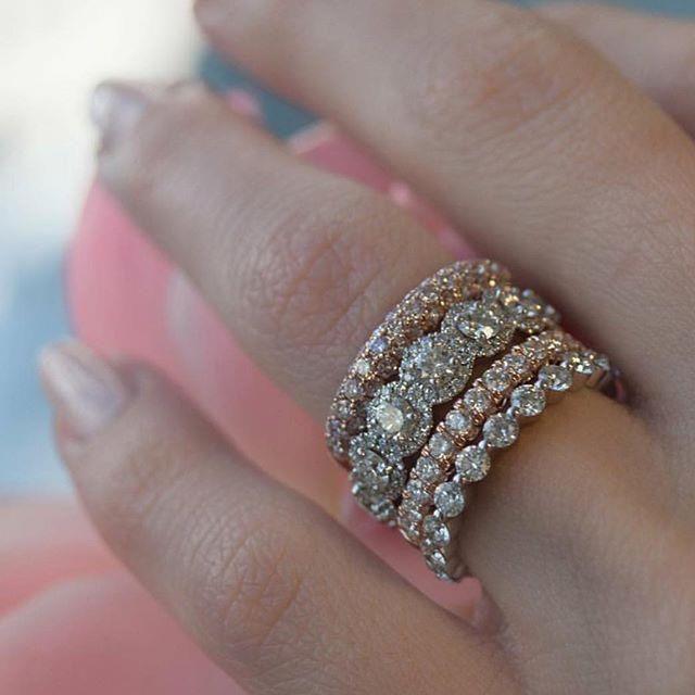Stackable Bands Diamond Wedding Bands Wedding Rings Diamond Bands