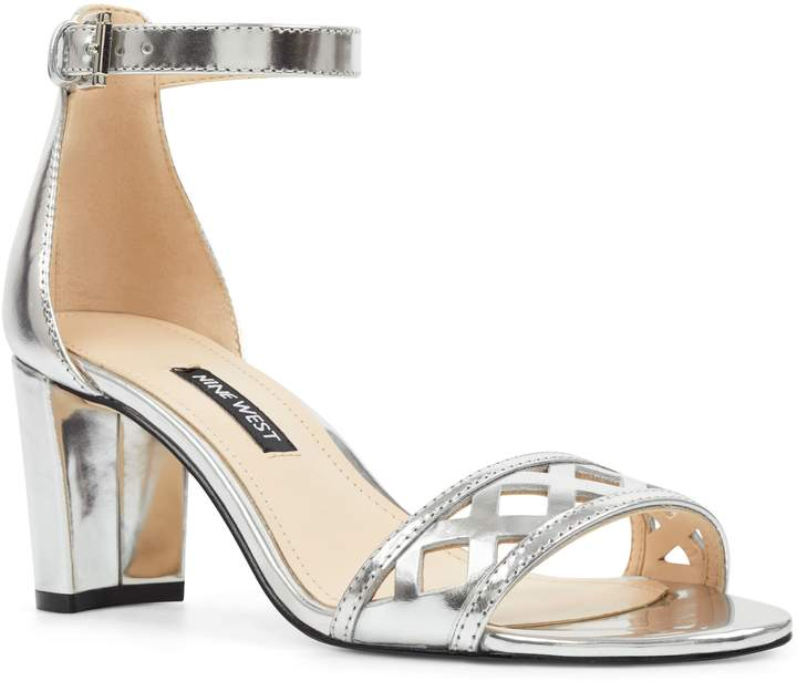 Nine West Paisley Perforated Ankle Strap Sandal | Products