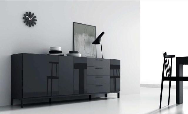 Elegante mueble aparador en negro | Aparadores | Pinterest ...