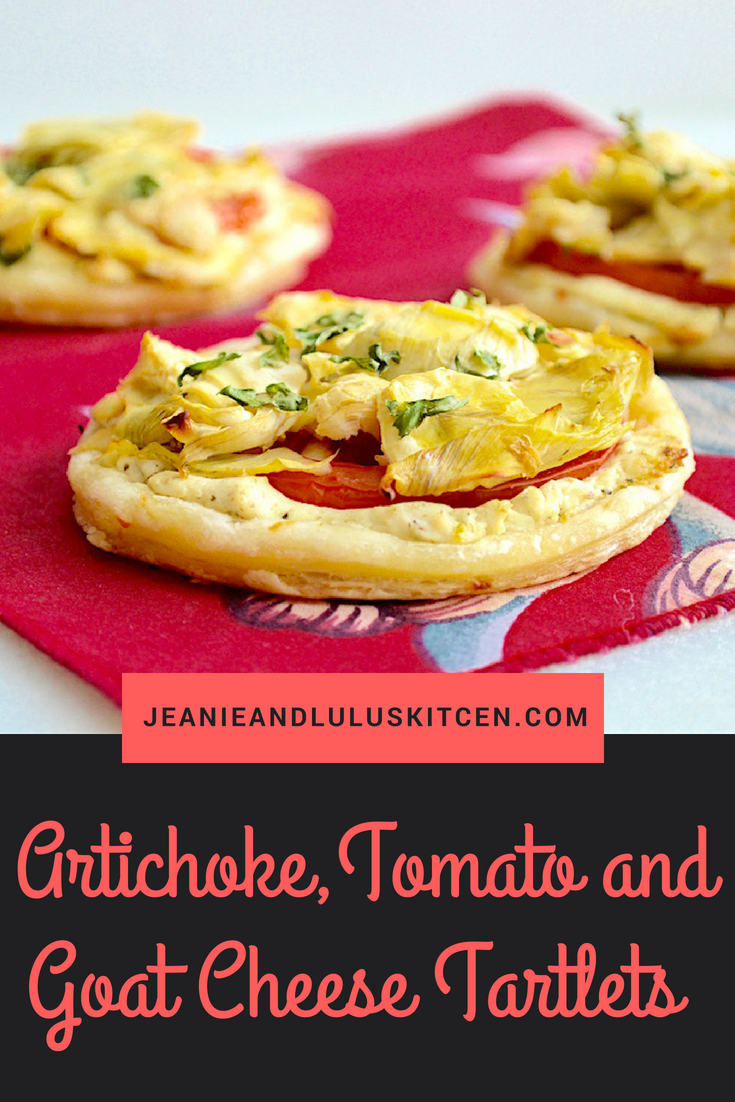 Artichoke Tomato And Goat Cheese Tartlets