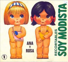 Bonecas de Papel: Ana e Rosa