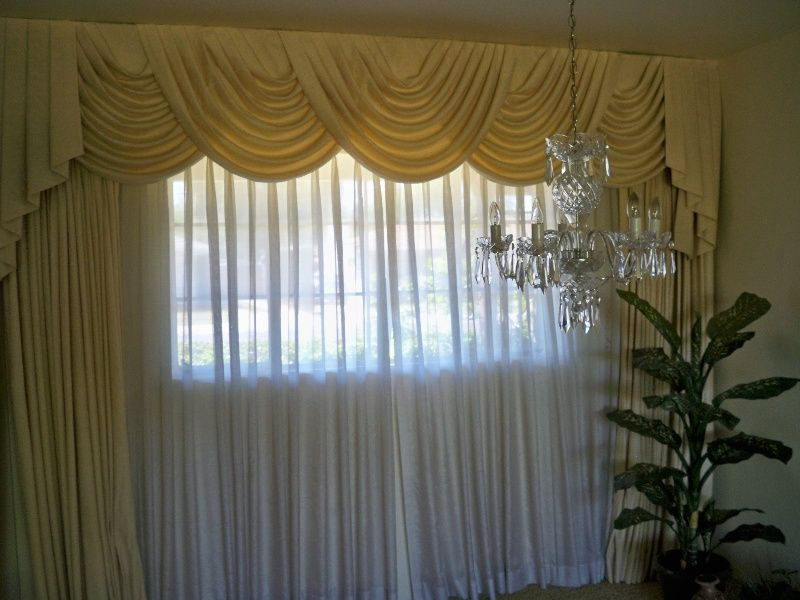 1950 Vintage Window Drapes Curtains Dining Room Phoenix Arizona Cool Window Treatments For Living Room And Dining Room Decorating Inspiration