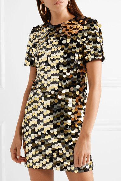 ed45c2ea8 Rachel Zoe - Elsa Sequined Cotton-jersey Mini Dress - Gold ...