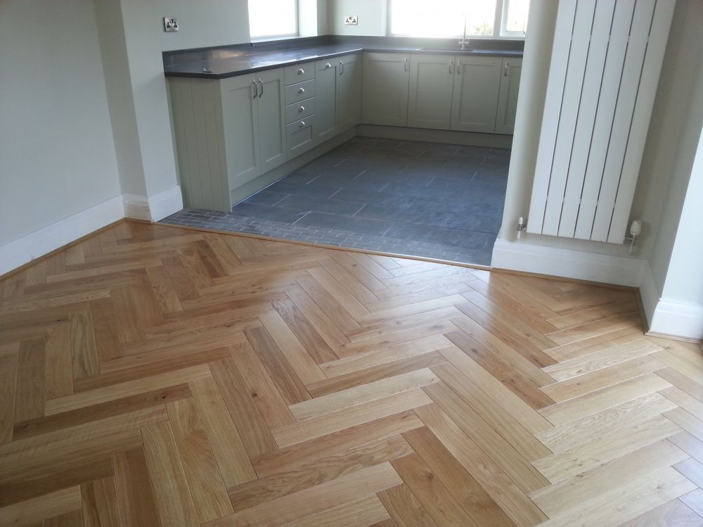 Engineered Herringbone Fitted On Top Of An Underlay Great Result
