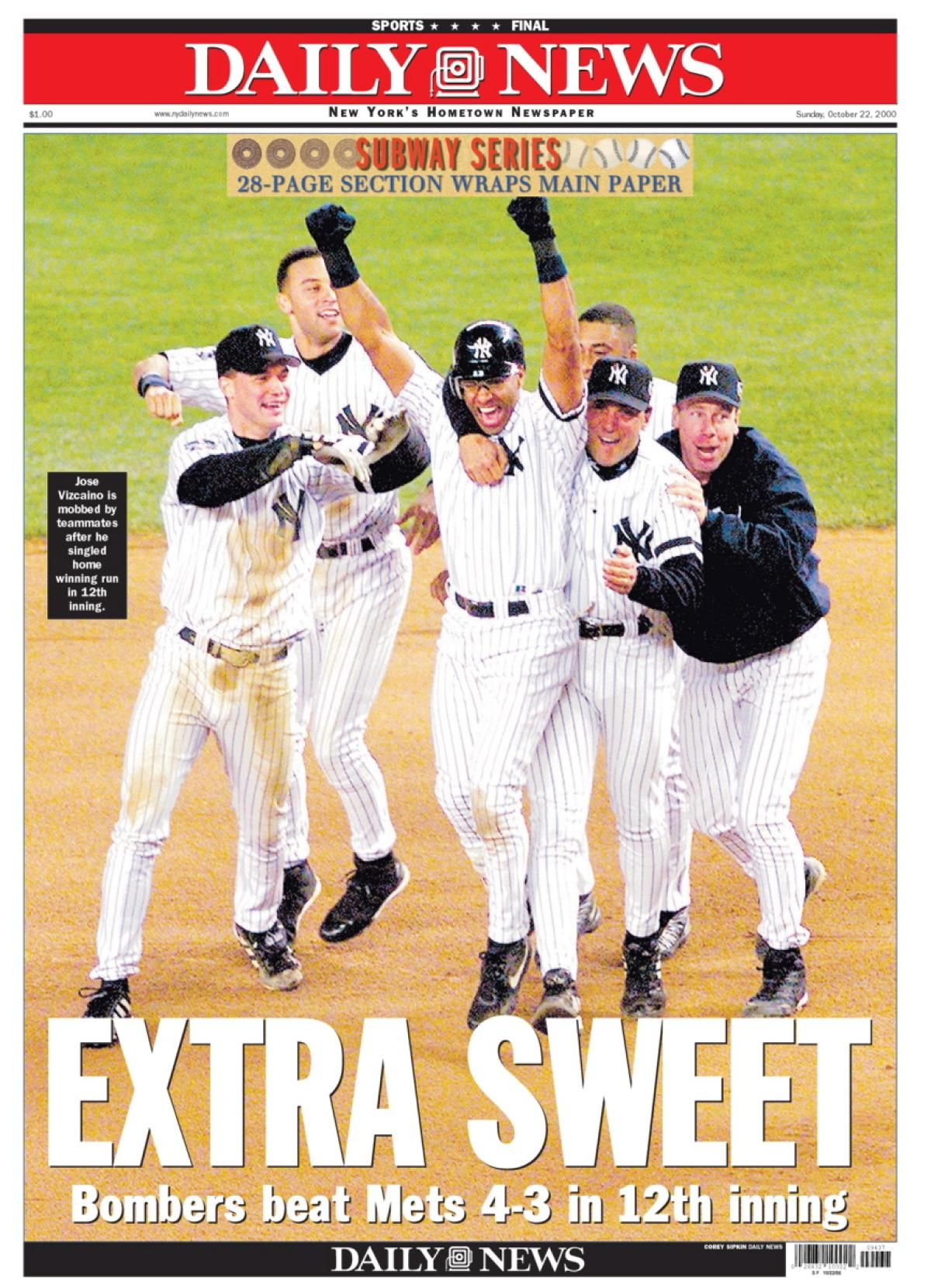 2000 World Series Game 1 Mets Vs Yankees New York Yankees Ny Mets Ny Yankees