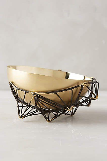 Caged Brass Bowl - anthropologie.com