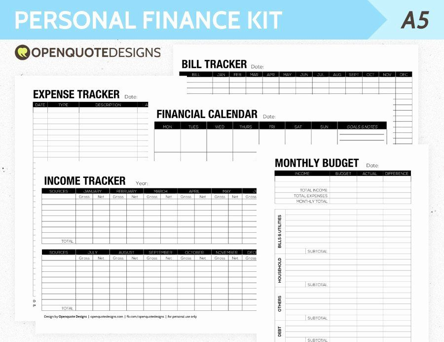 Personal Financial Plan Template in 2020 Financial
