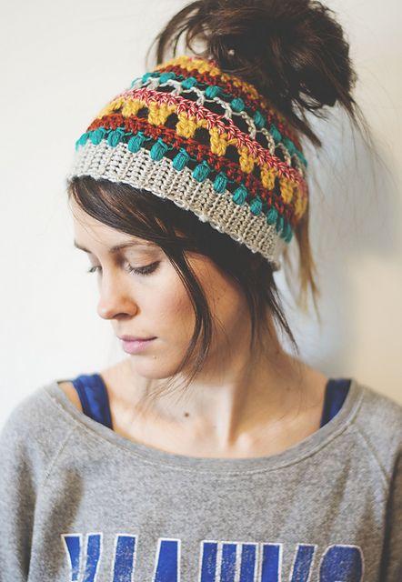 Crochet Messy Bun Beanie Orange Purple Messy Bun Beanie Ponytail Beanie Womens Ponytail Hat Top Knot Hat READY TO SHIP Messy Bun Hat