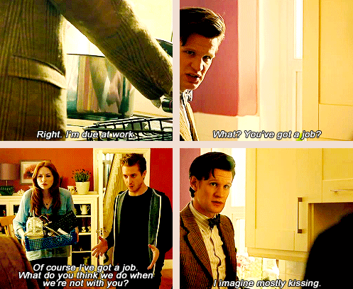The Ponds have jobs