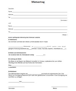 Muster Mietvertrag Als Pdf Dokument Offnen 0