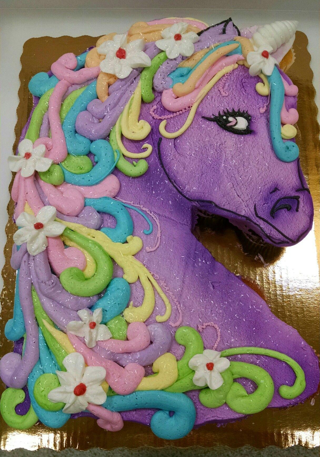 Magic Unicorn Cupcake Pull A Part With Images Unicorn Birthday
