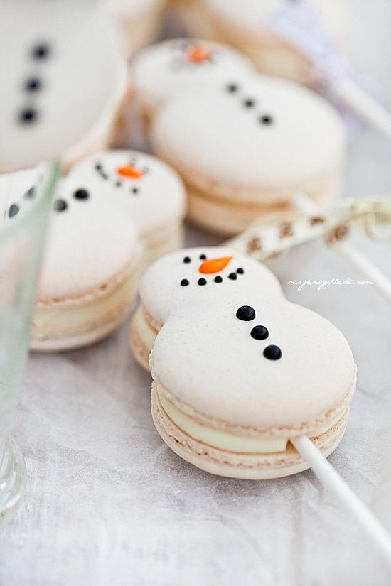 snowmen macarons christmas pinterest lutscher. Black Bedroom Furniture Sets. Home Design Ideas