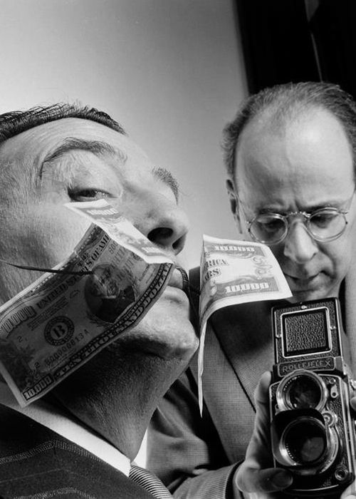 Philippe Halsman and Salvador Dalì, 1954