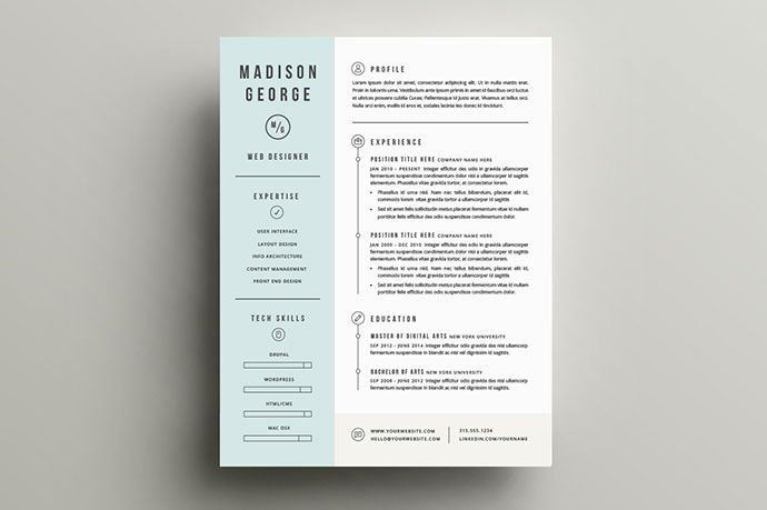 The 30+ Best Resume Templates Of 2016 | Template