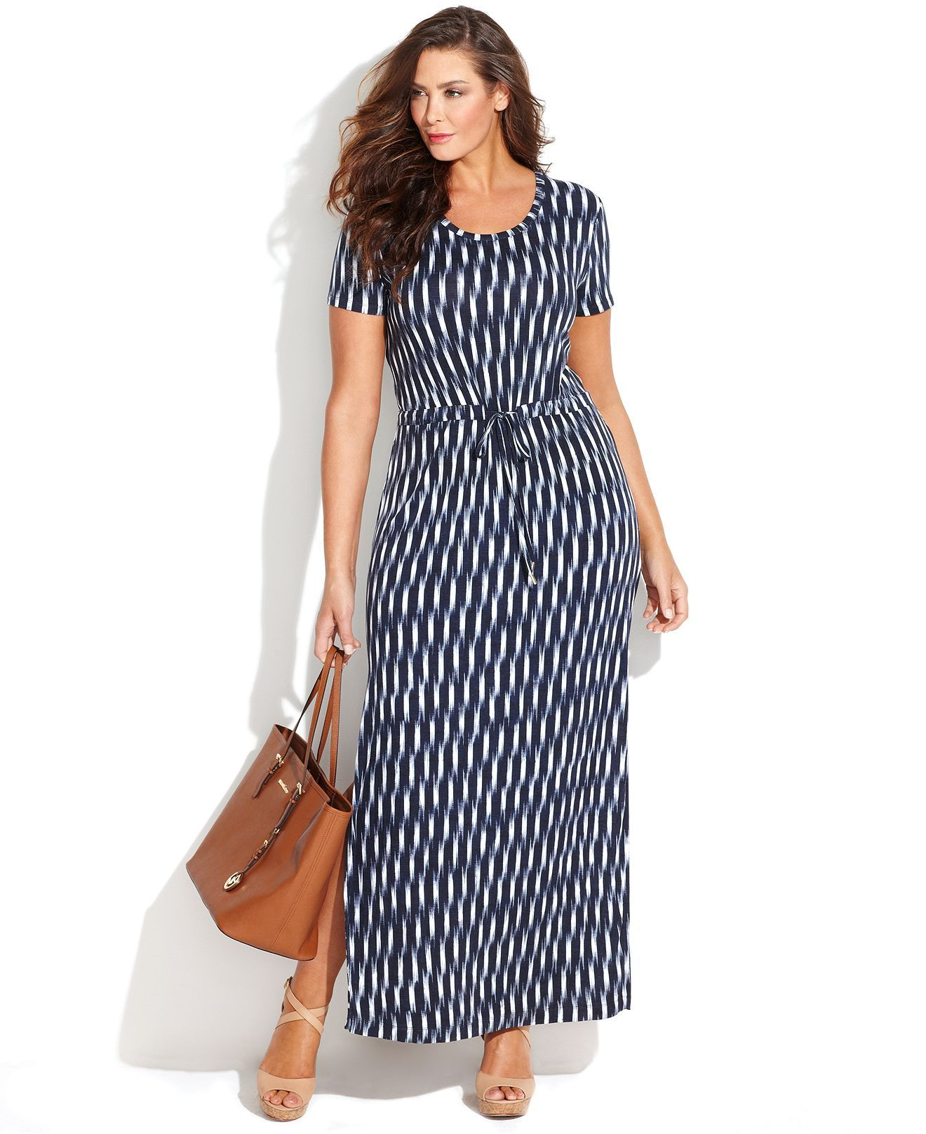 3230886415e MICHAEL Michael Kors Plus Size Short-Sleeve Printed Maxi Dress - Skirts - Plus  Sizes - Macy's