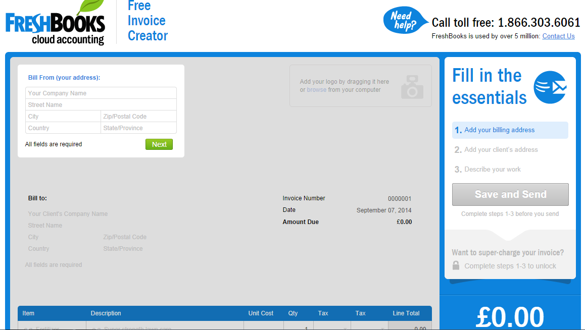 Online Invoice Creator Free Online Invoice Creator From Freshbooks Business & Money .