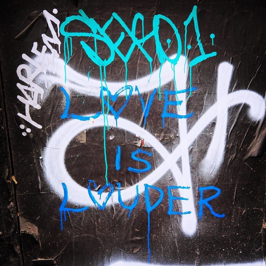 Love is Louder #streetart #graffiti #tags #harlem #seko1 #aerosol #les #nystreetart #urbanart #loveislove #queerart