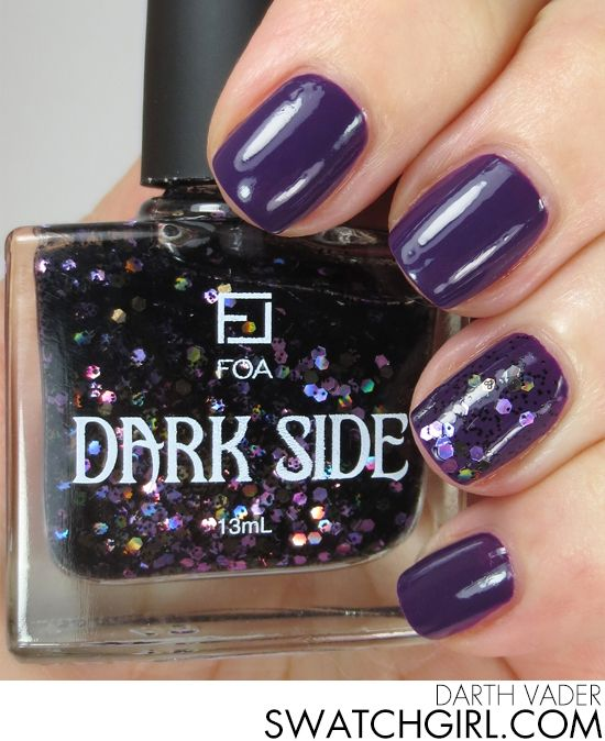Face of Australia Dark Side collection manicure | Holographic ...