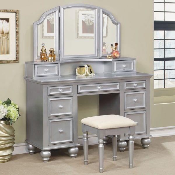 Furniture of America Shianne Contemporary 2-piece Multi-drawer ...