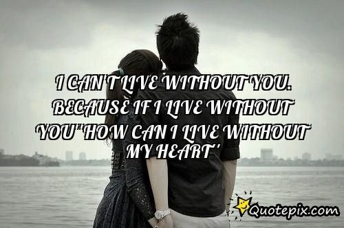 Cant Live Without You Quotes Cant Live Without You Quotes I Can
