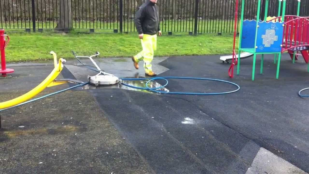 Cleaning Children S Playground Wet Pour Rubber Kids Playground Pressure Washing Services Cleaning