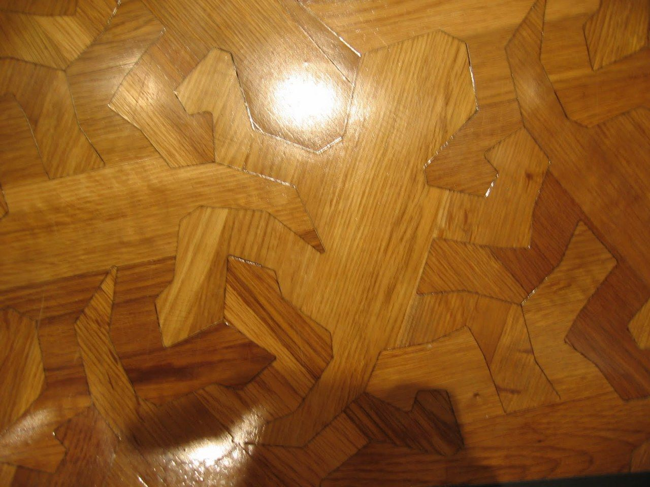 Wooden floor pattern based on m c eschers reptiles floor m c escher reptiles wooden floor doublecrazyfo Images