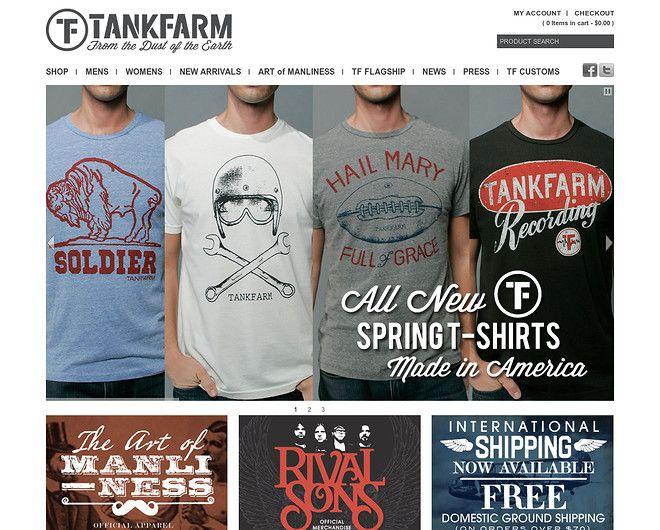 Tankfarm Clothing - Cool T-shirts - CoolHomepages Web Design ...