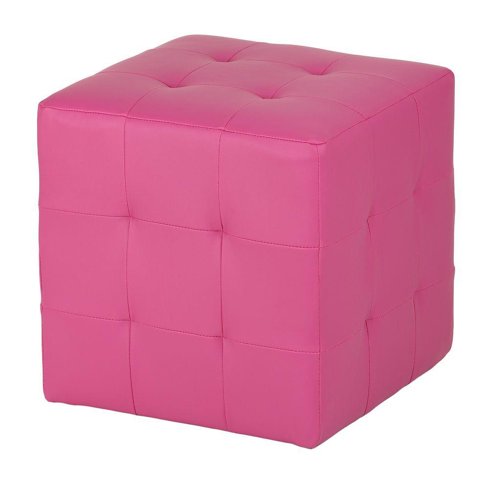 Pink Cube Ottoman Overstock Com Shopping Great Deals