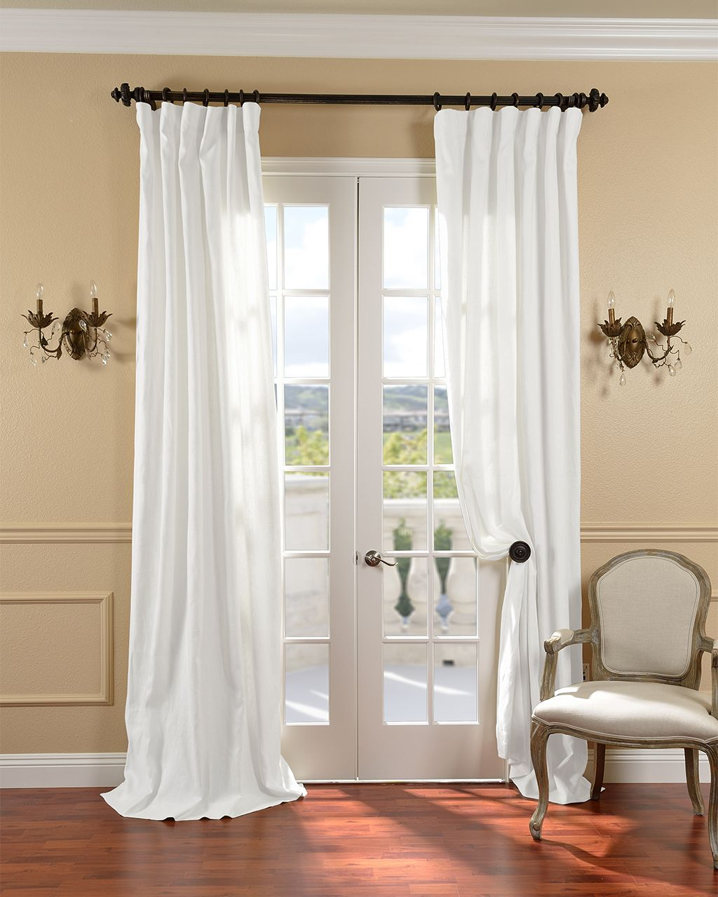 Linen window treatments - White Window Treatments